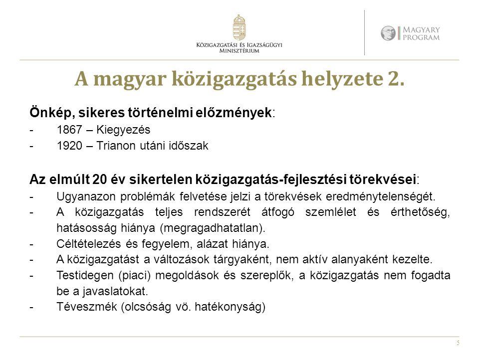 A magyar közigazgatás helyzete 2.