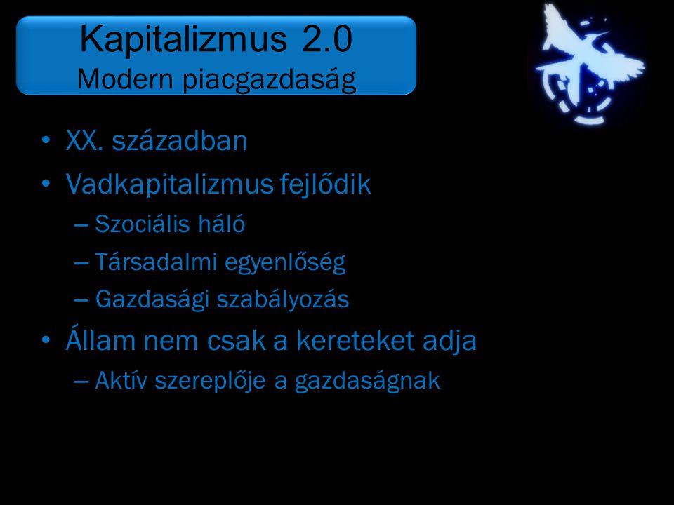 Kapitalizmus 2.0 Modern piacgazdaság XX. században