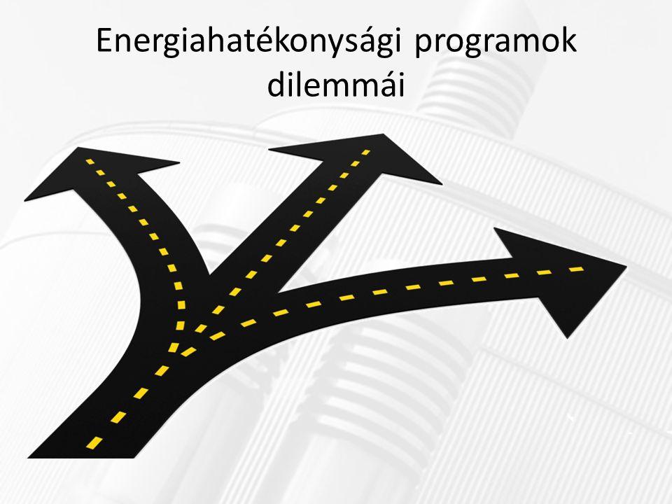 Energiahatékonysági programok dilemmái