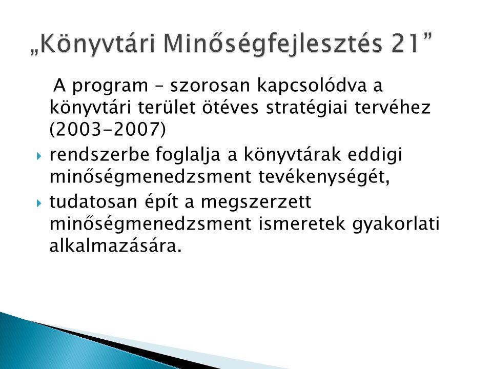 """""""Könyvtári Minőségfejlesztés 21"""