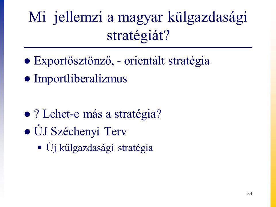 Mi jellemzi a magyar külgazdasági stratégiát