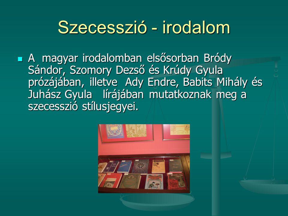 Szecesszió - irodalom