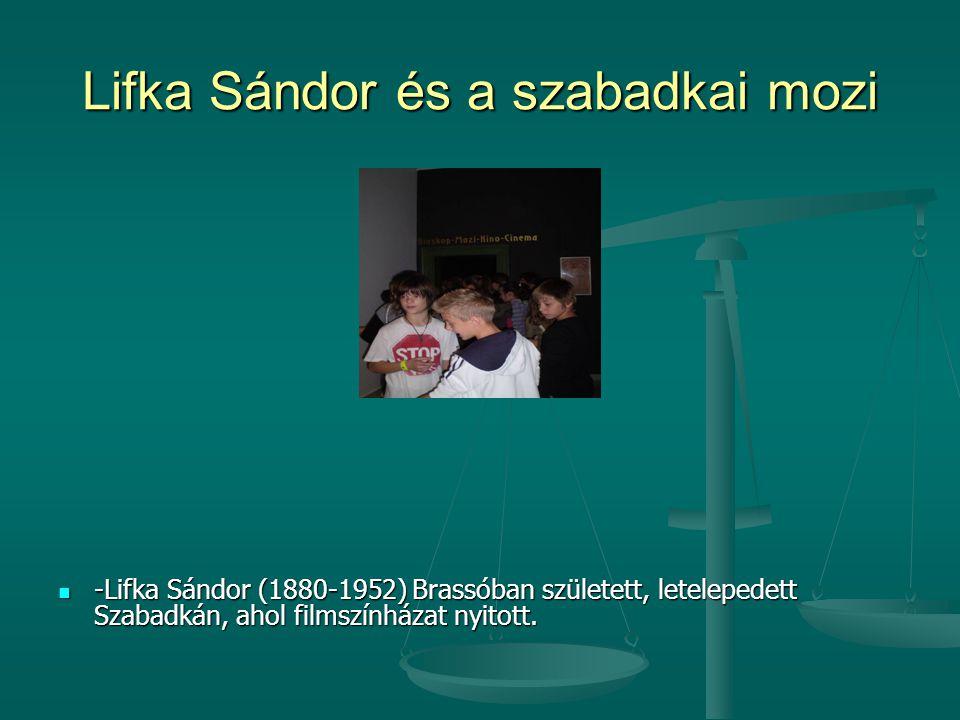 Lifka Sándor és a szabadkai mozi