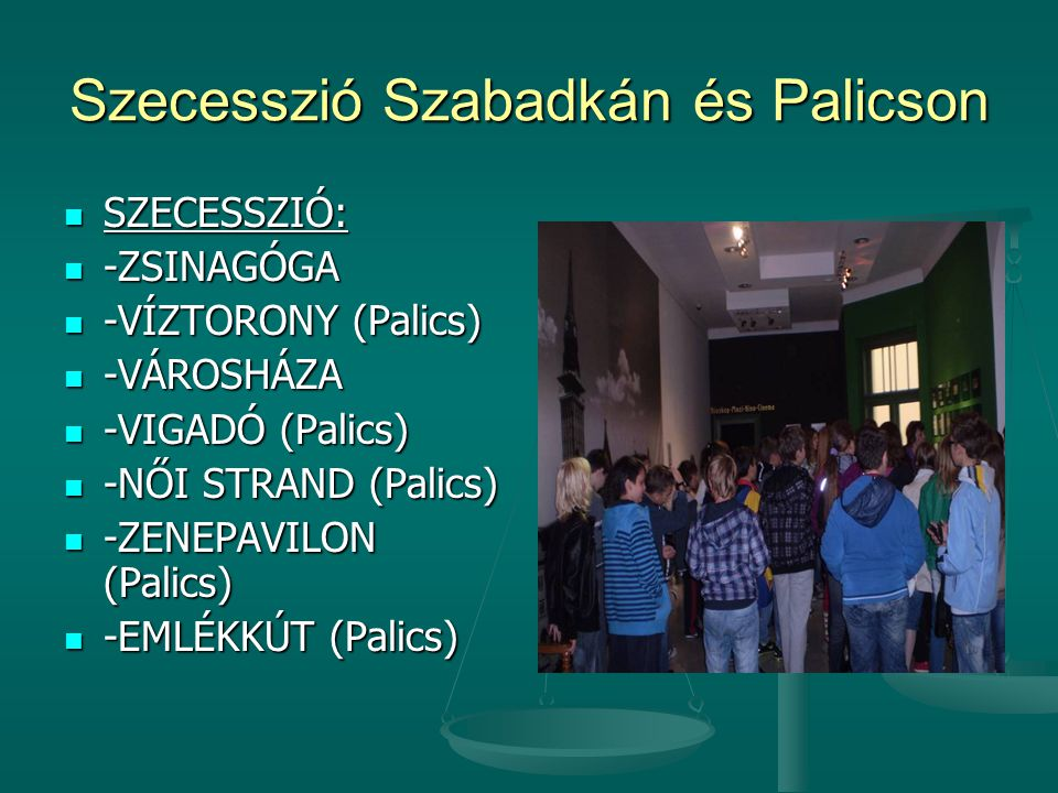 Szecesszió Szabadkán és Palicson