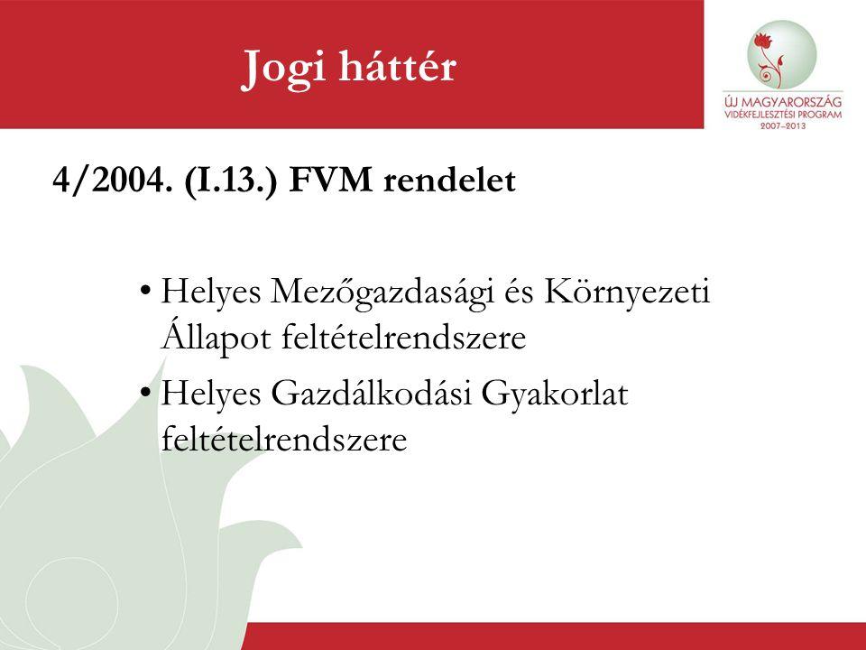Jogi háttér 4/2004. (I.13.) FVM rendelet