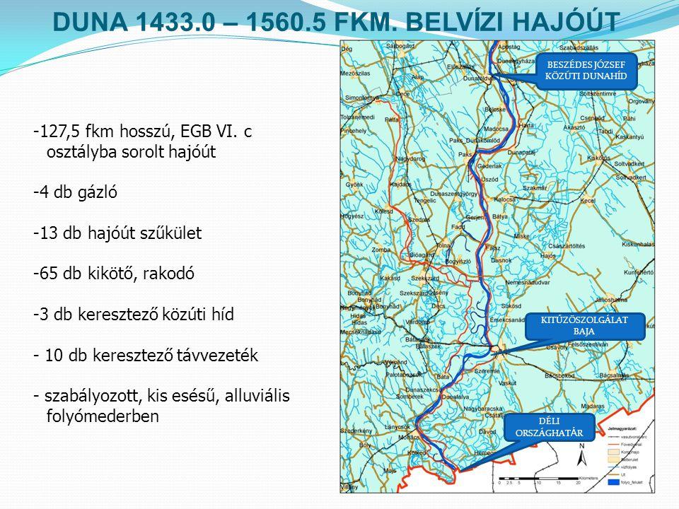 DUNA 1433.0 – 1560.5 FKM. BELVÍZI HAJÓÚT