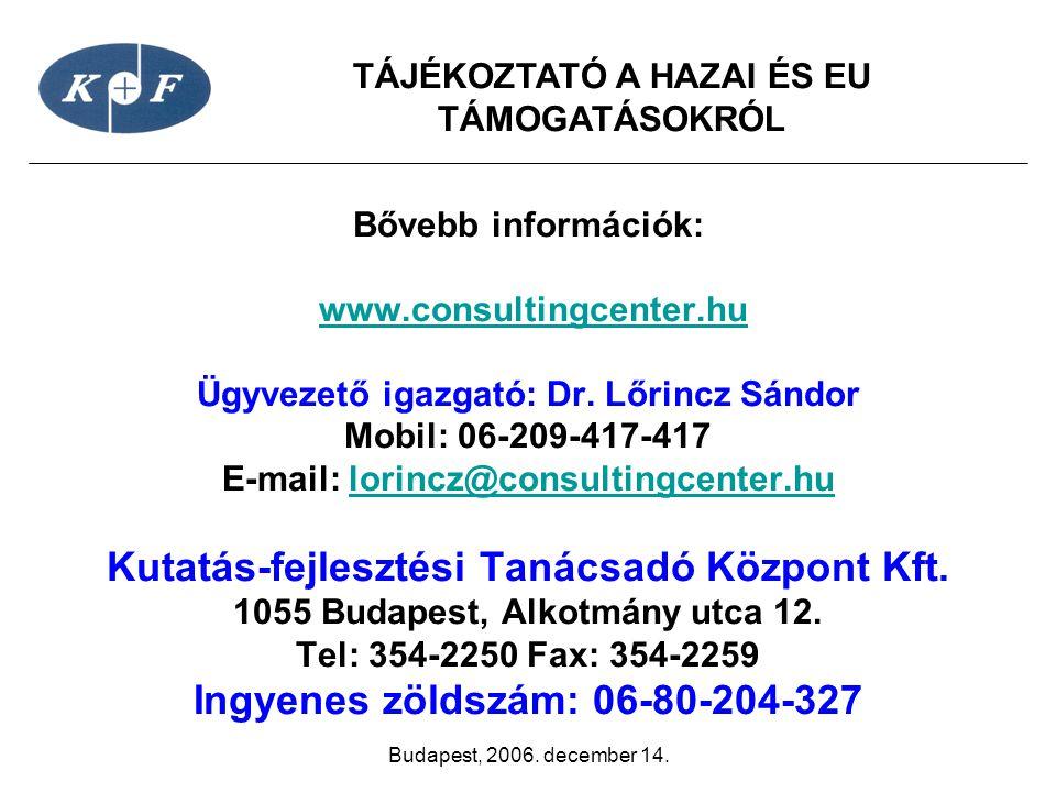 Kutatás-fejlesztési Tanácsadó Központ Kft.