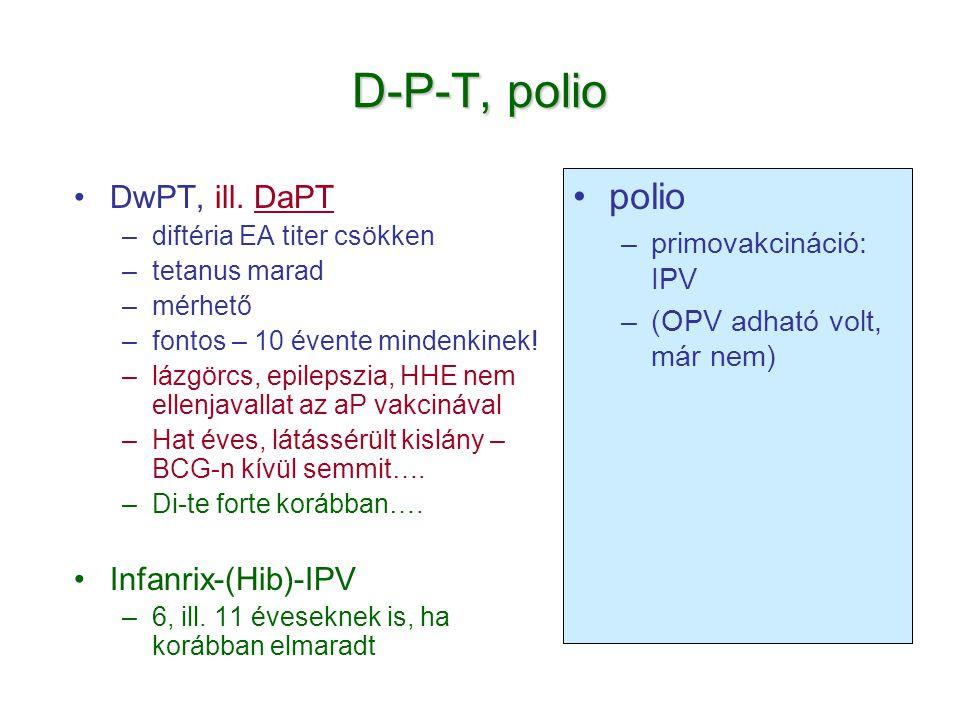 D-P-T, polio polio DwPT, ill. DaPT Infanrix-(Hib)-IPV