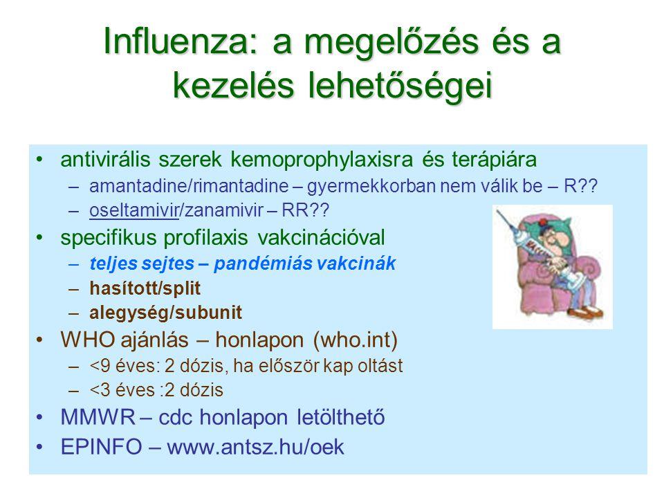 Influenza: a megelőzés és a kezelés lehetőségei