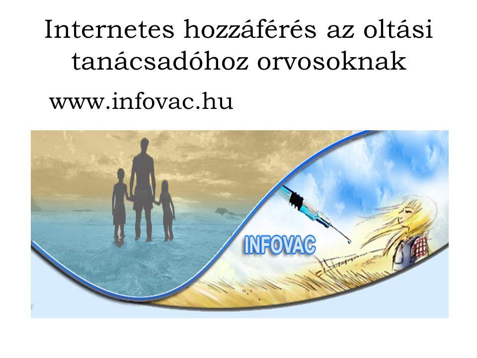 Internetes hozzáférés az oltási tanácsadóhoz orvosoknak