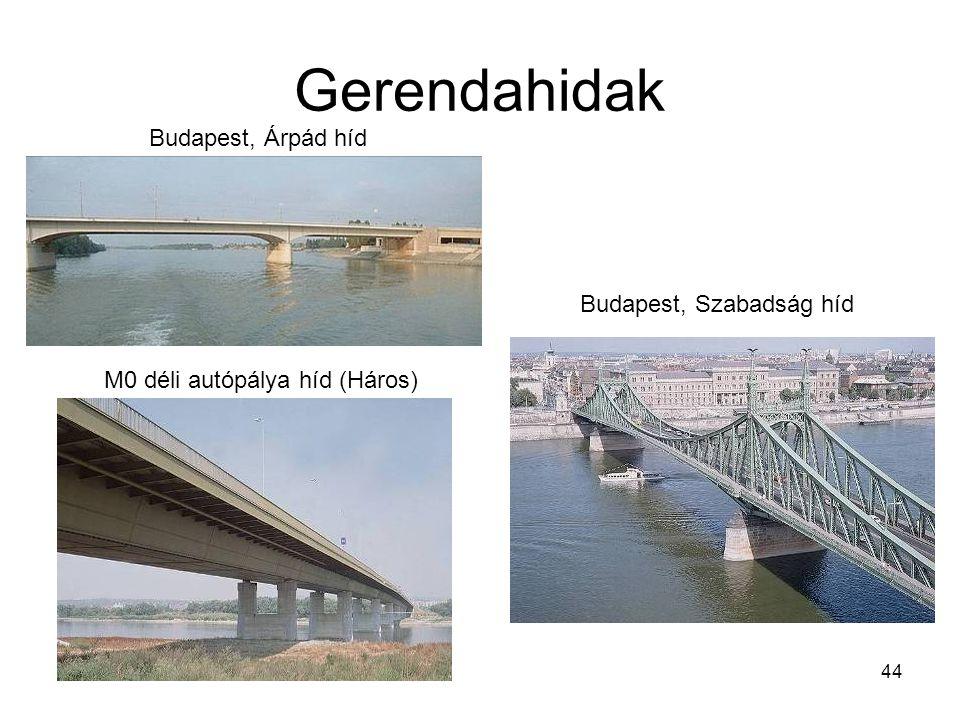 Gerendahidak Budapest, Árpád híd Budapest, Szabadság híd