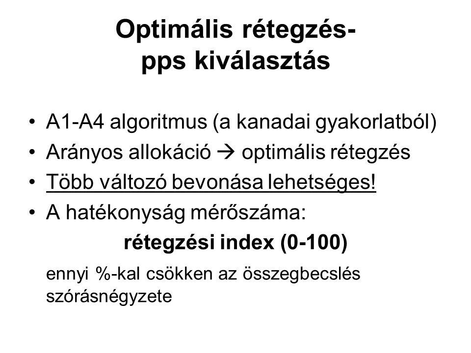 Optimális rétegzés- pps kiválasztás