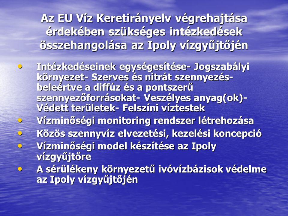 Az EU Víz Keretirányelv végrehajtása érdekében szükséges intézkedések összehangolása az Ipoly vízgyűjtőjén