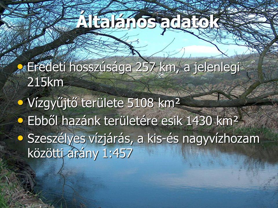 Általános adatok Eredeti hosszúsága 257 km, a jelenlegi 215km