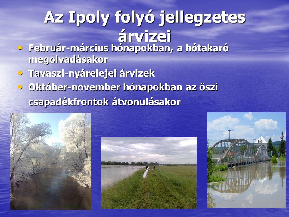 Az Ipoly folyó jellegzetes árvizei