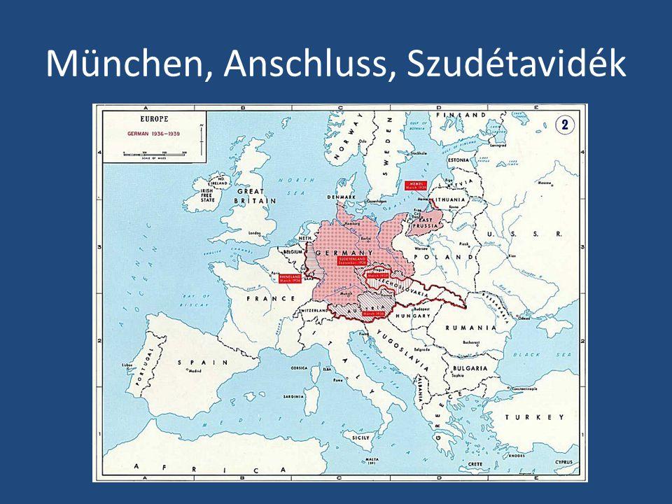 München, Anschluss, Szudétavidék