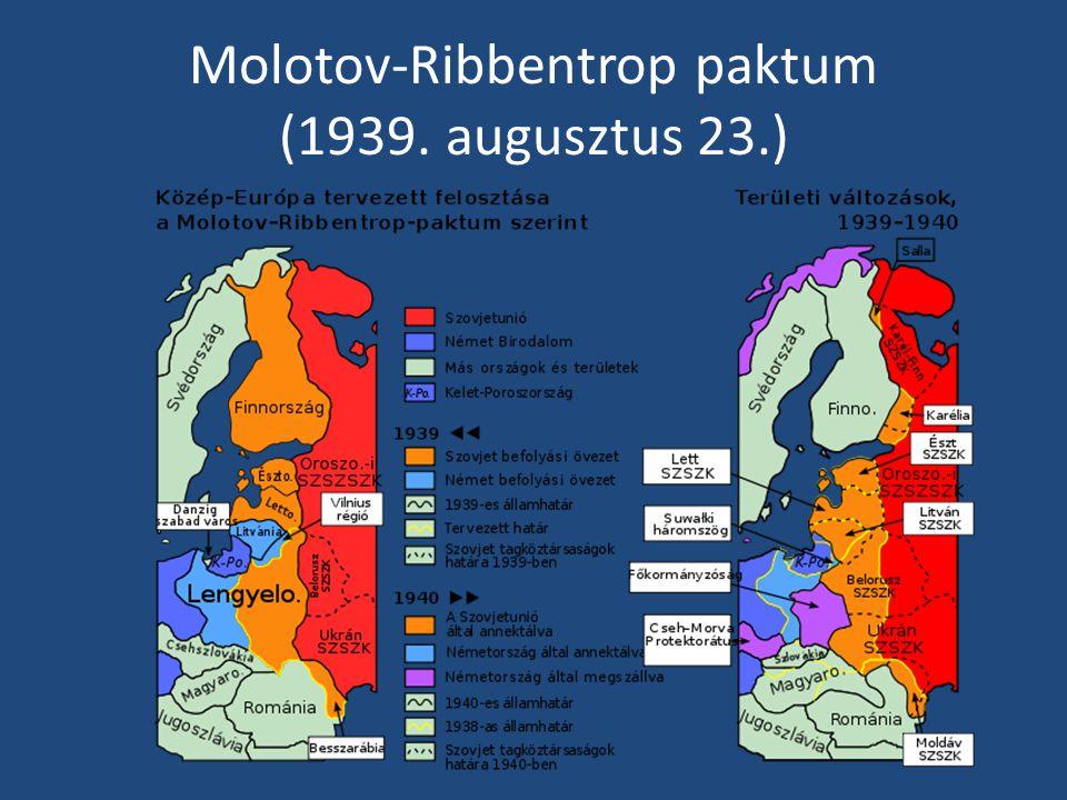 Molotov-Ribbentrop paktum (1939. augusztus 23.)