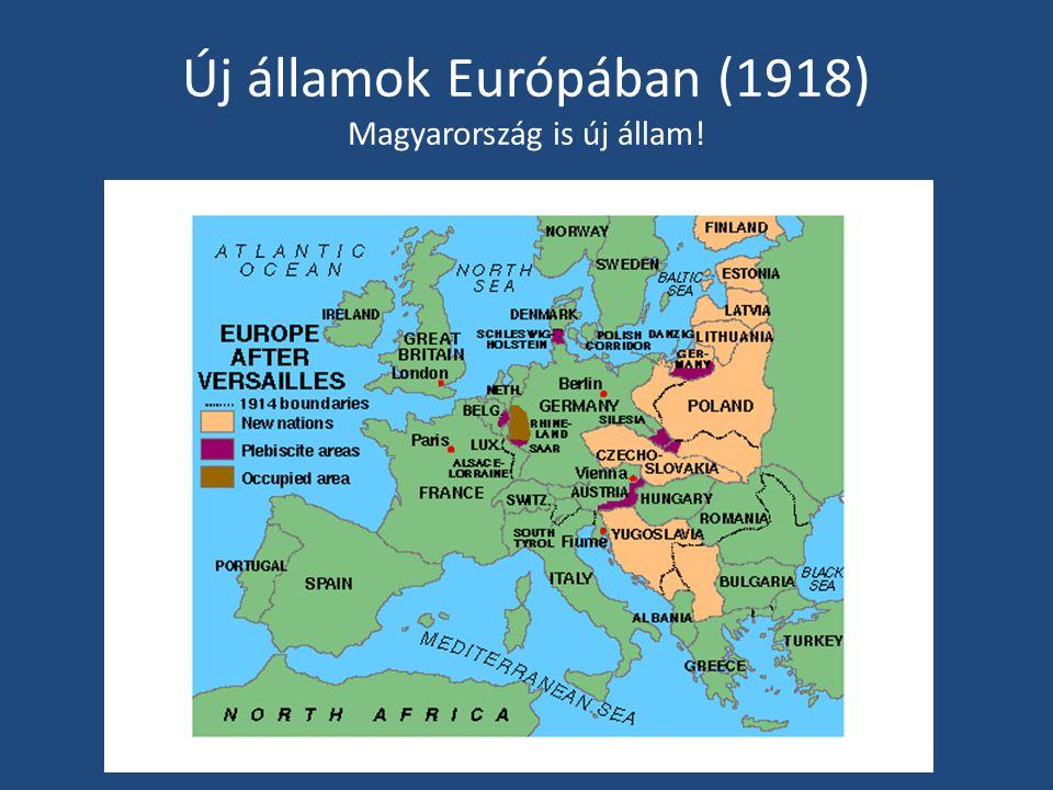 Új államok Európában (1918) Magyarország is új állam!