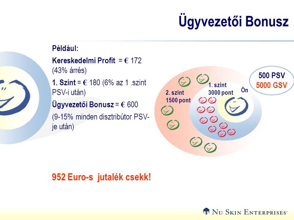 Ügyvezetői Bonusz 952 Euro-s jutalék csekk! Például: