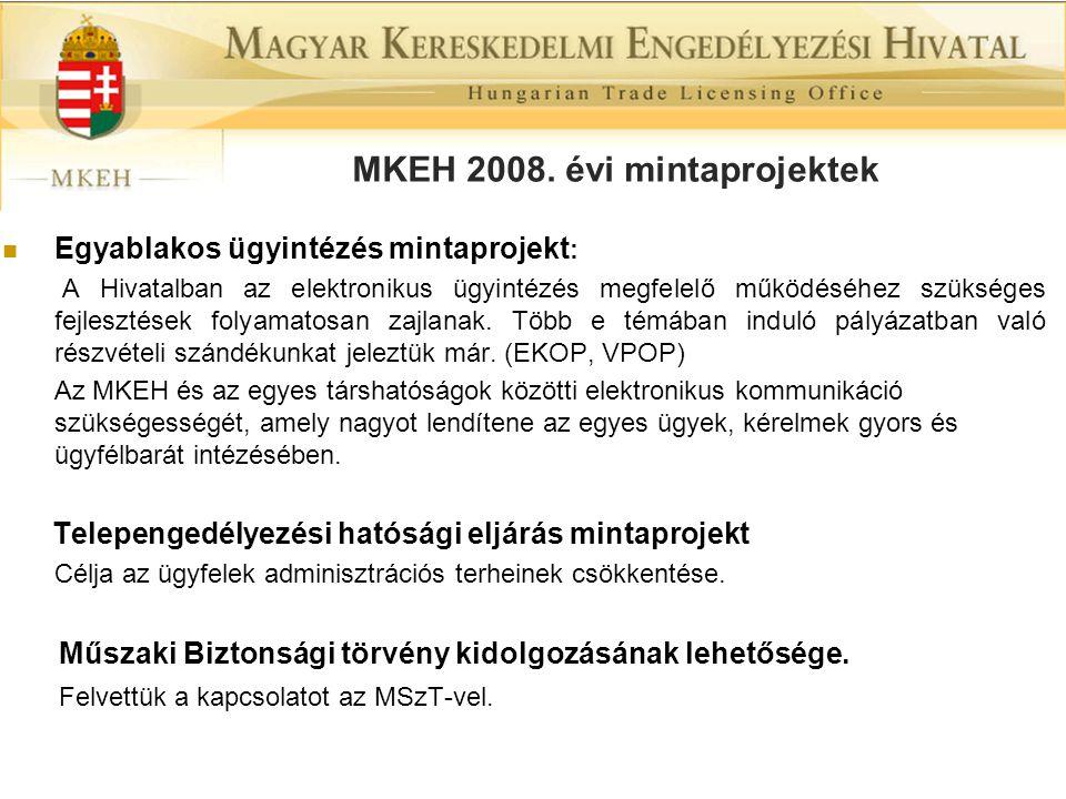 MKEH 2008. évi mintaprojektek