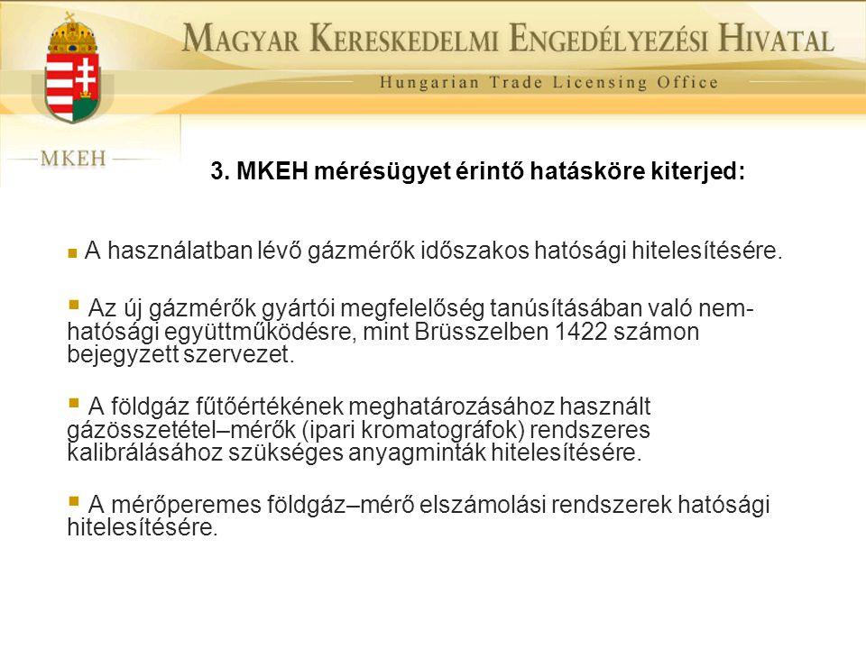 3. MKEH mérésügyet érintő hatásköre kiterjed: