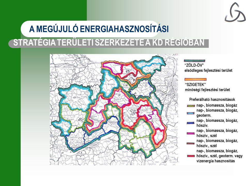 A MEGÚJULÓ ENERGIAHASZNOSÍTÁSI STRATÉGIA TERÜLETI SZERKEZETE A KD RÉGIÓBAN