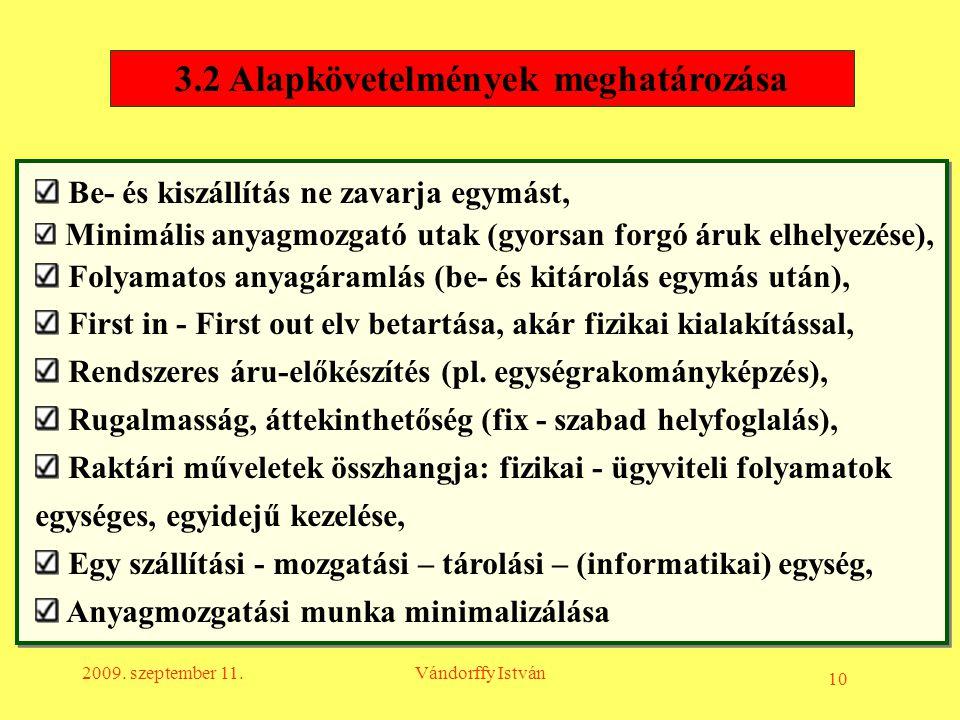 3.2 Alapkövetelmények meghatározása