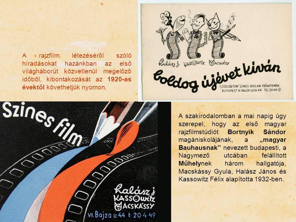 A rajzfilm létezéséről szóló híradásokat hazánkban az első világháborút közvetlenül megelőző időből, kibontakozását az 1920-as évektől követhetjük nyomon.