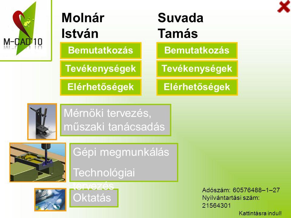 Molnár István Suvada Tamás Mérnöki tervezés, műszaki tanácsadás