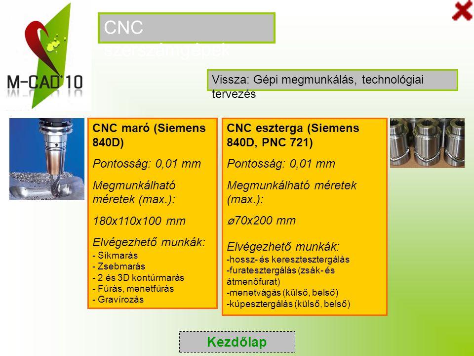 CNC szerszámgépek Kezdőlap