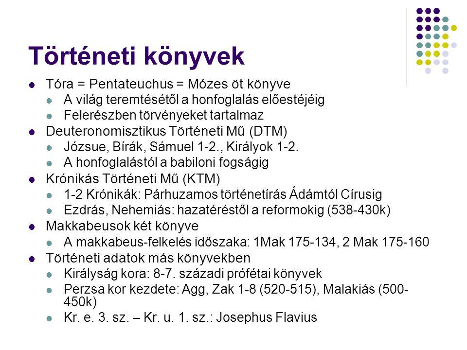 Történeti könyvek Tóra = Pentateuchus = Mózes öt könyve