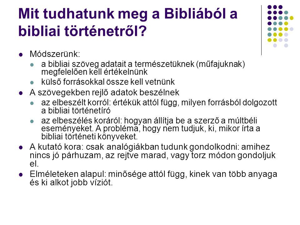 Mit tudhatunk meg a Bibliából a bibliai történetről