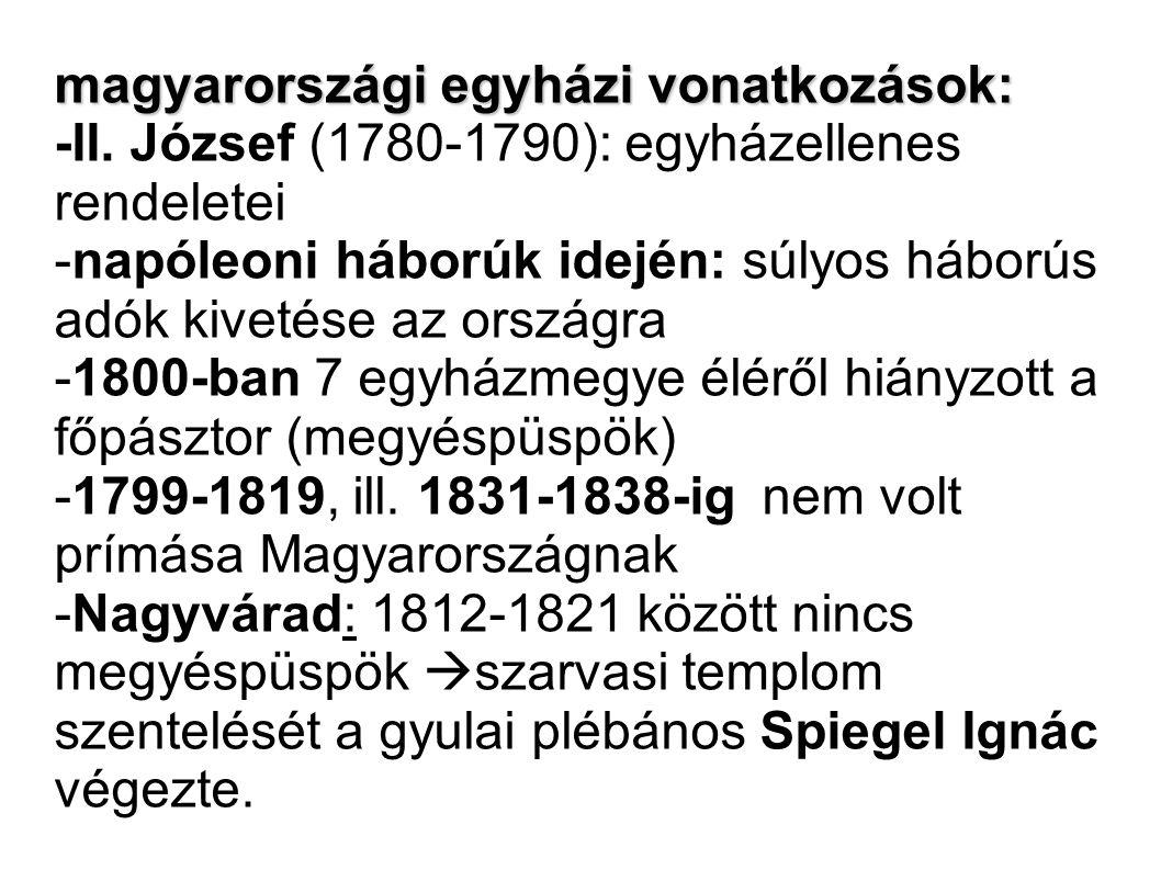 magyarországi egyházi vonatkozások: