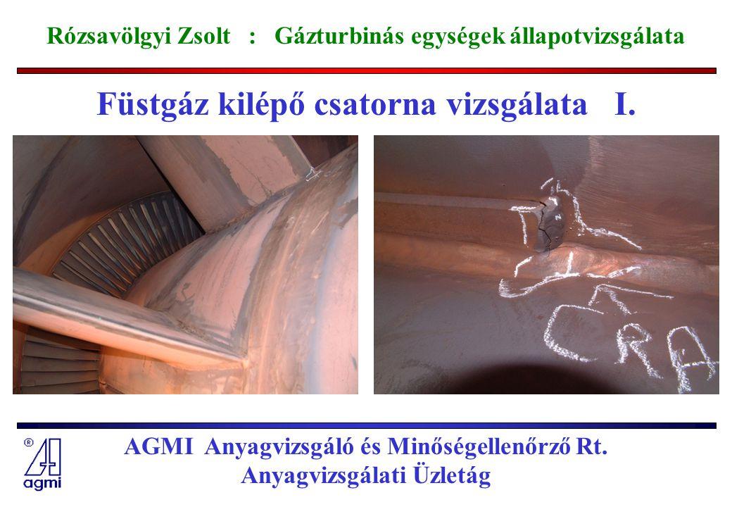 Füstgáz kilépő csatorna vizsgálata I.