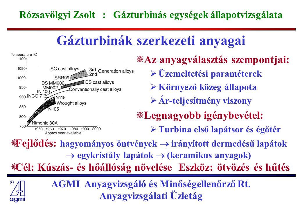 Gázturbinák szerkezeti anyagai