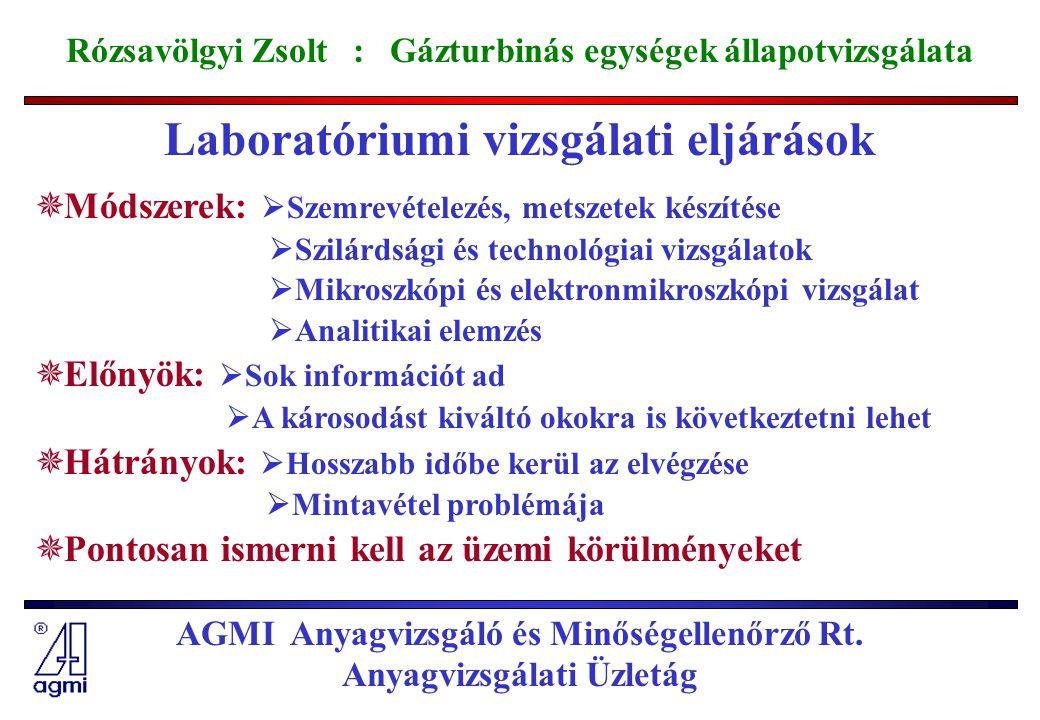 Laboratóriumi vizsgálati eljárások
