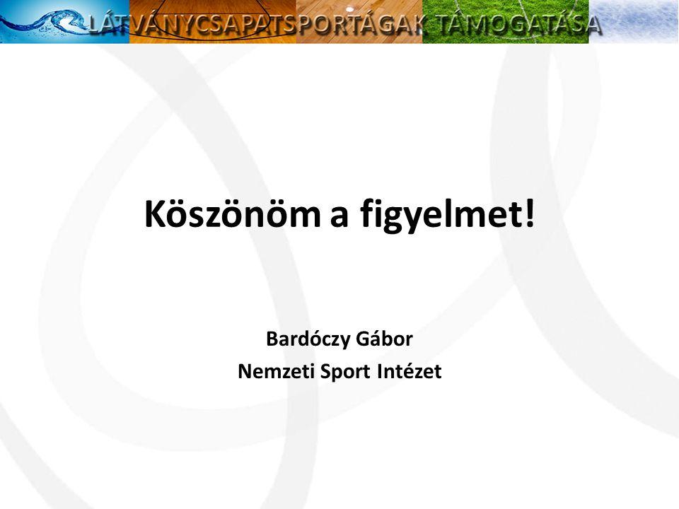 Bardóczy Gábor Nemzeti Sport Intézet