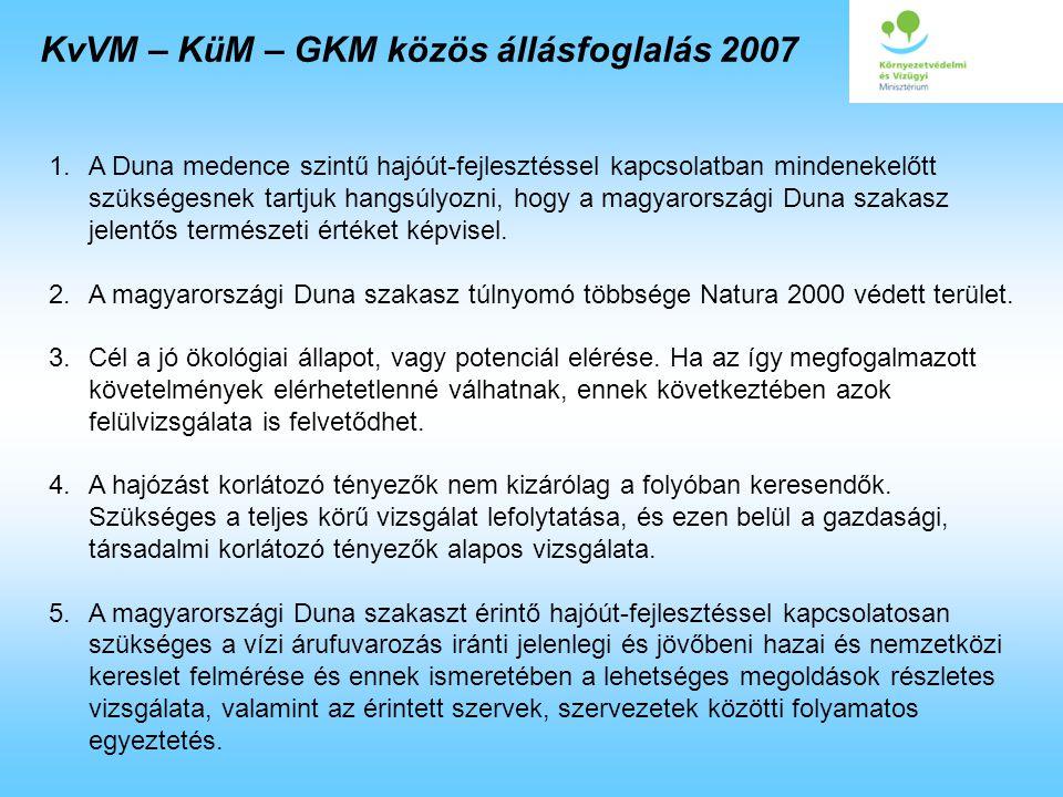 KvVM – KüM – GKM közös állásfoglalás 2007