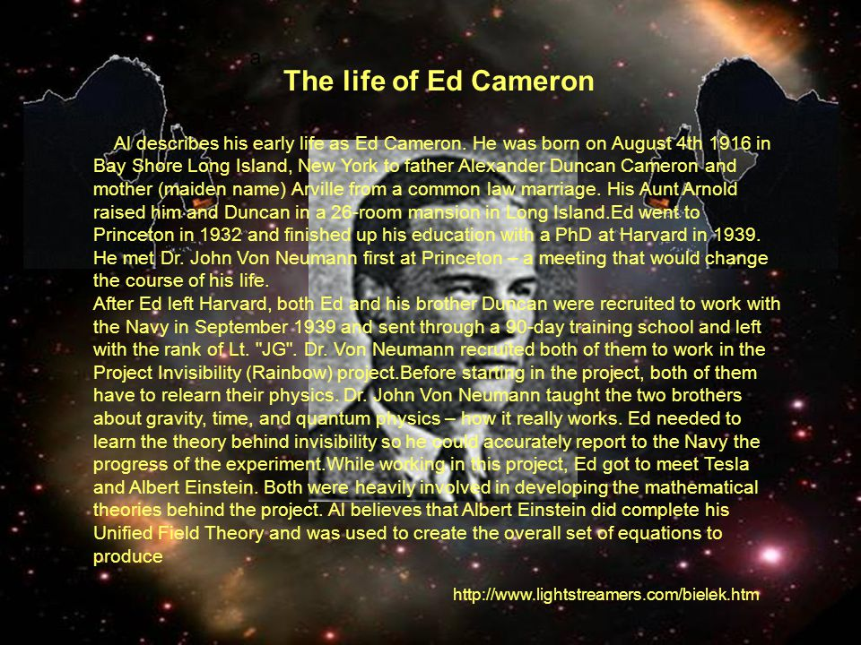 The life of Ed Cameron ALFRED BIELEK