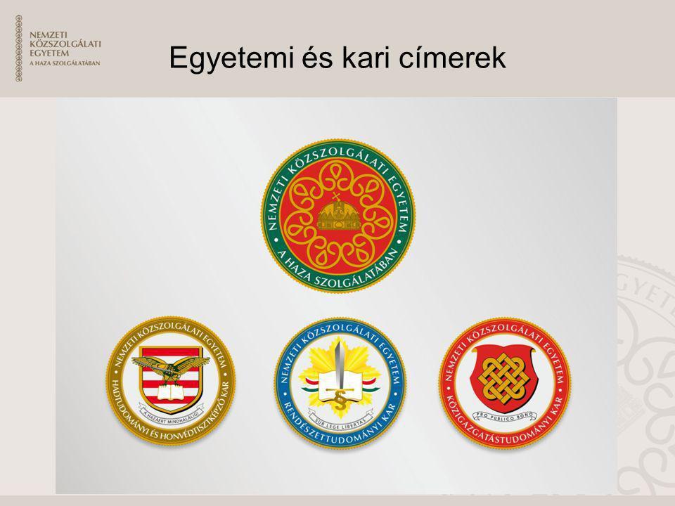 Egyetemi és kari címerek