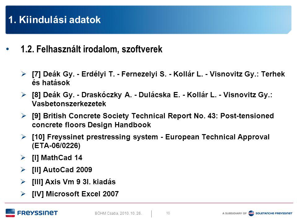 1.2. Felhasznált irodalom, szoftverek