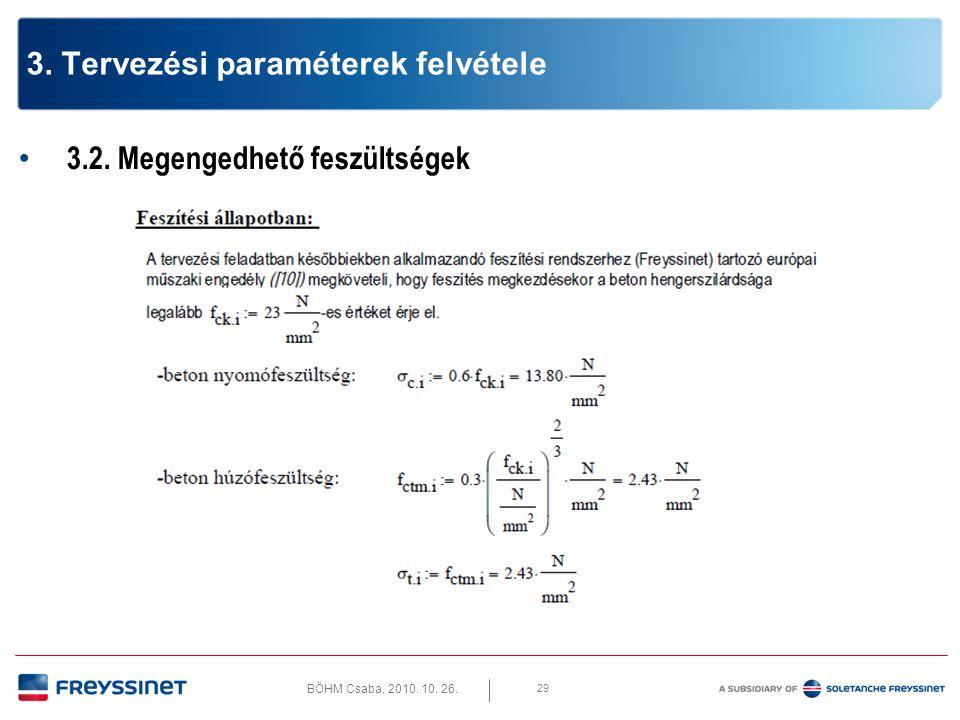 3. Tervezési paraméterek felvétele
