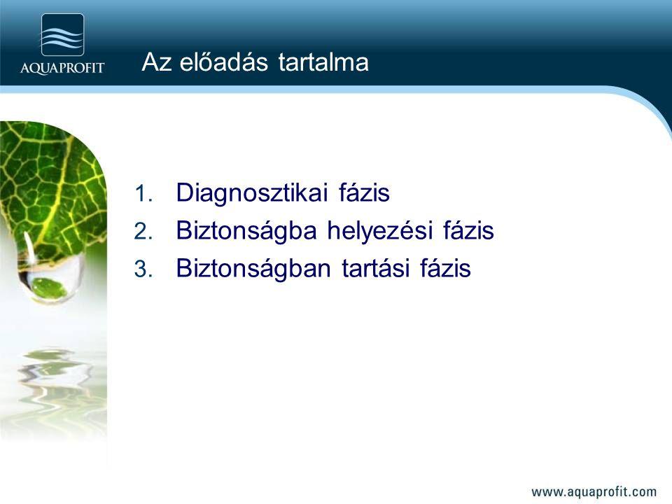 Az előadás tartalma Diagnosztikai fázis Biztonságba helyezési fázis Biztonságban tartási fázis