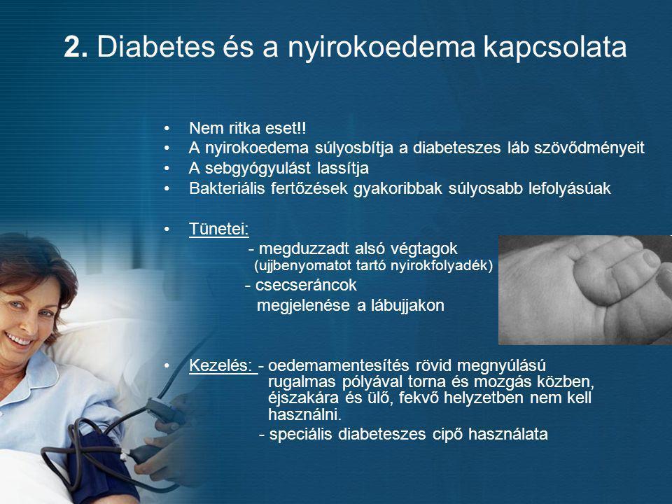 2. Diabetes és a nyirokoedema kapcsolata