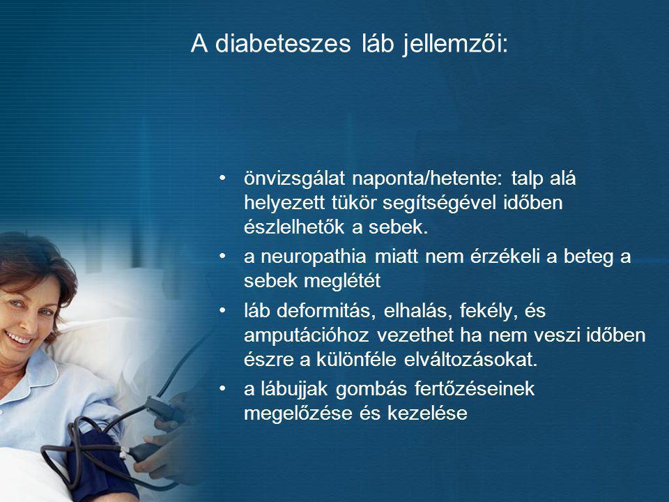 A diabeteszes láb jellemzői:
