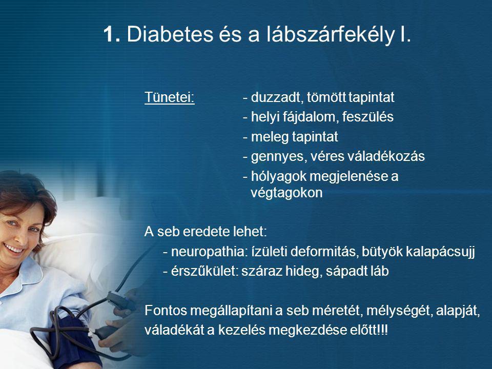1. Diabetes és a lábszárfekély I.