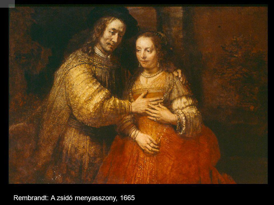 Rembrandt: A zsidó menyasszony, 1665