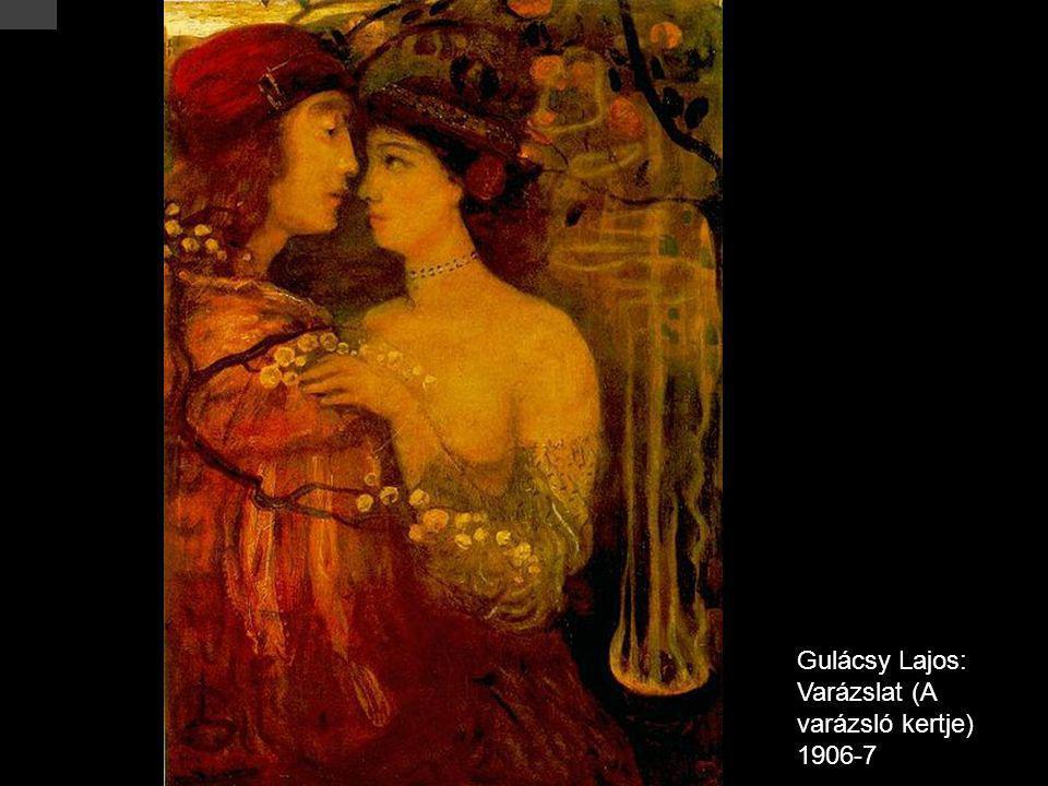 Gulácsy Lajos: Varázslat (A varázsló kertje) 1906-7