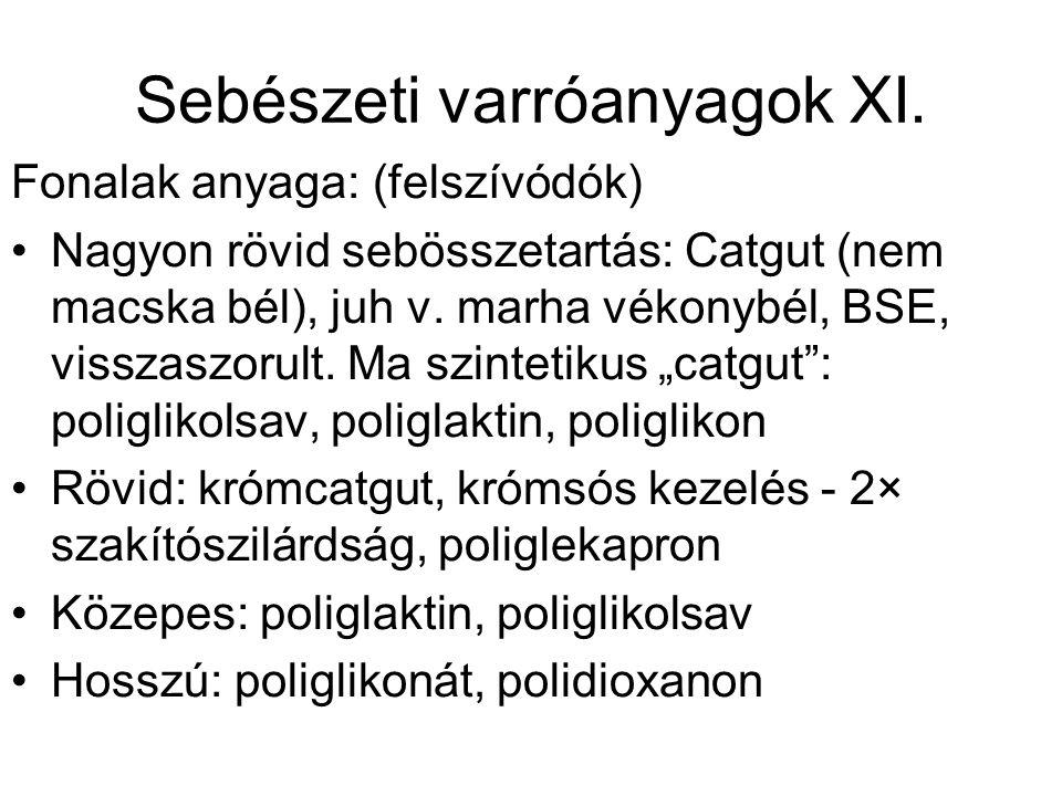 Sebészeti varróanyagok XI.
