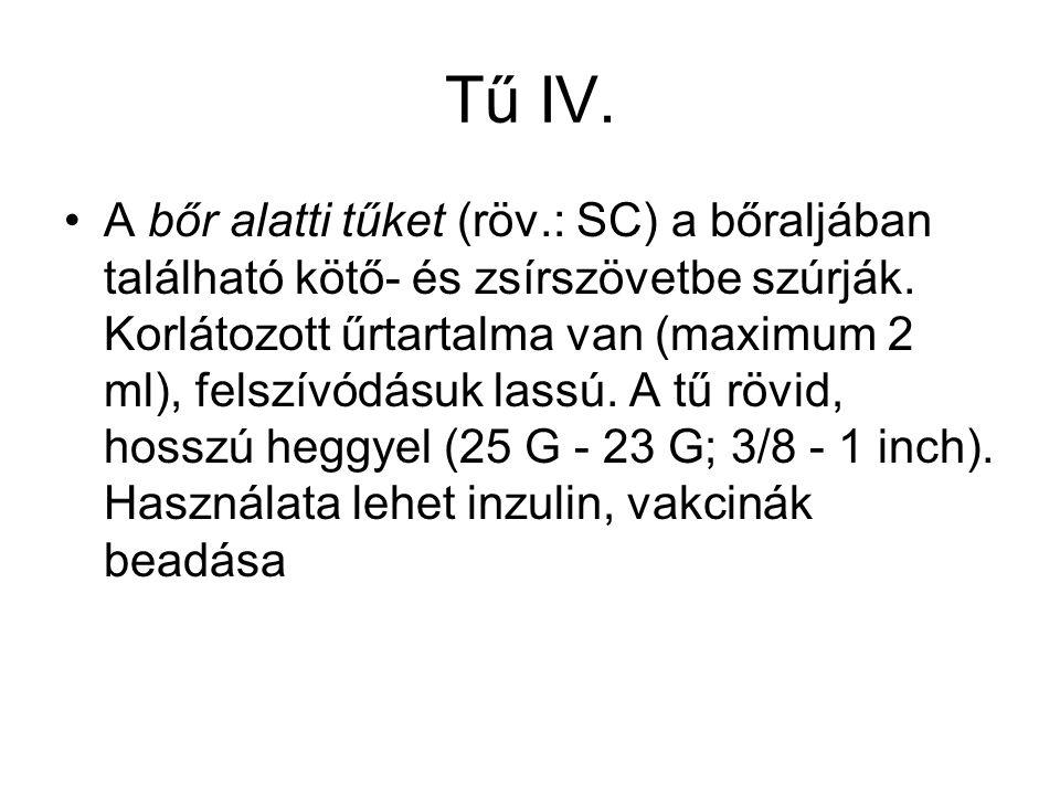 Tű IV.